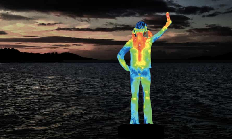 Artist's image of the Ocean Siren installation on the Strand in Townsville, Queensland