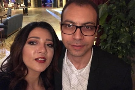 Amal Fathy and her husband Mohamed Lotfy