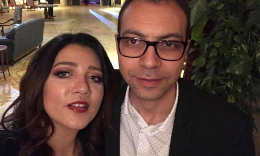Amal Fathy, pictured with her husband activist,  Mohamed Lotfy. He confirmed her release in a Facebook post.
