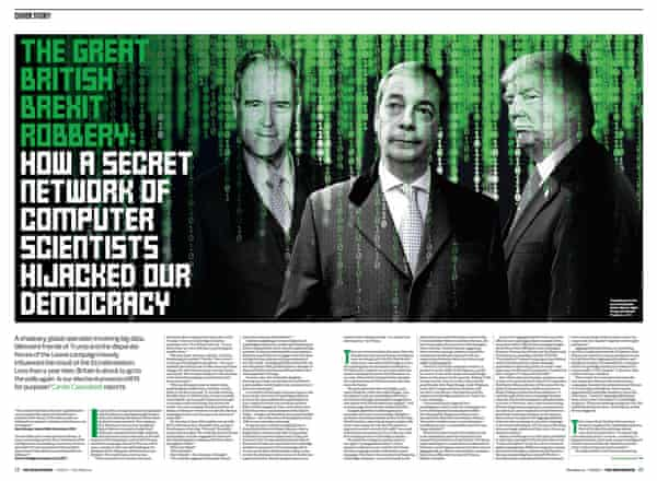 The Observer's report, May 2017, on shadowy forces behind Trump and Brexit.
