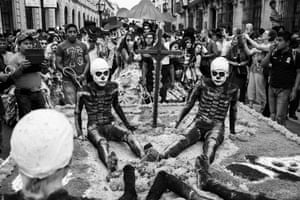Oaxaca, a town in south Mexico with a population estimated at 260,000, is steeped in cultural traditions and one of its biggest celebrations is Dìa de MuertosJim Grover's images are on display at Leica gallery, the Royal Exchange, London, until 24 December