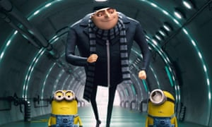 Felonius Gru and minions in Despicable Me.
