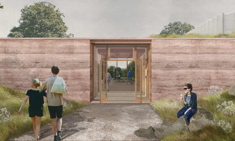 Artist's impression of the new visitor centre at Yorkshire Sculpture Park