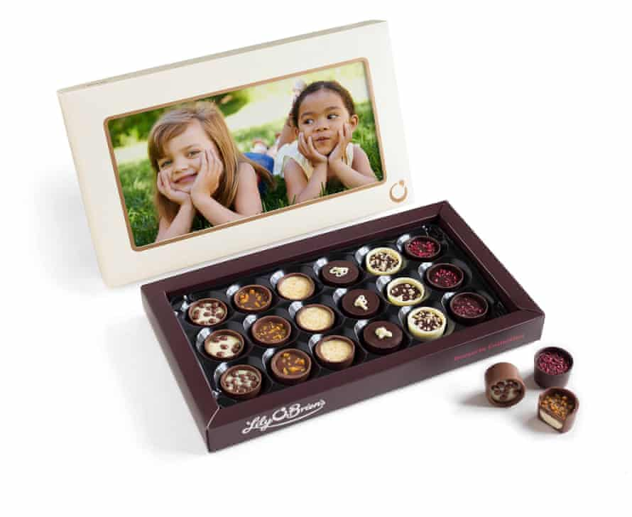 Personalised box of chocolates from lilyobriens.co.uk