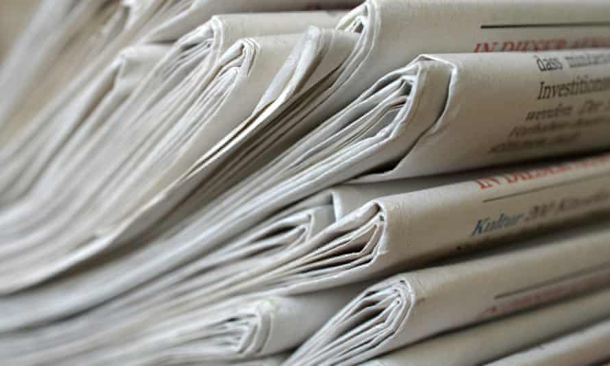 A pile of German newspapers