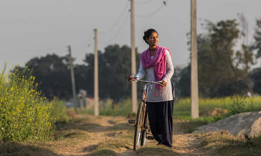When Pandey asked her parents to let her work instead of marrying, her father bought her a bicycle.