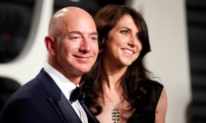 Amazon's Jeff Bezos and his wife MacKenzie Bezos.