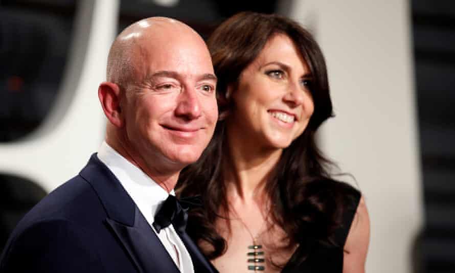 Amazon's Jeff Bezos and his wife MacKenzie Bezos.