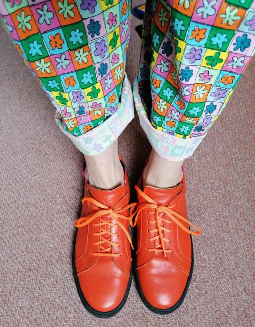 Faye, from Totnes, loves clashing prints and oversized tailoring.