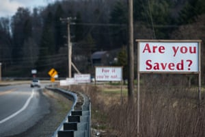 'Are you Saved?' ask signs on the way out of Buckhannon.