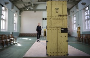 Former inmate Oscar Wilde's prison-cell door.