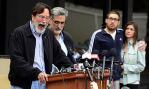 Richard Martinez (left) expresses his anger and sorrow over the attack that killed his son Christopher.