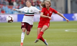 Jordyn Huitema (right) is just 18 but already has six goals for her country