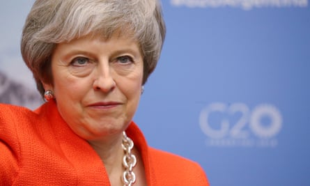 Theresa May at the G20 leaders summit in Buenos Aires.
