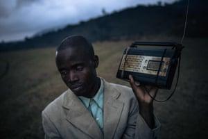 Man with radio