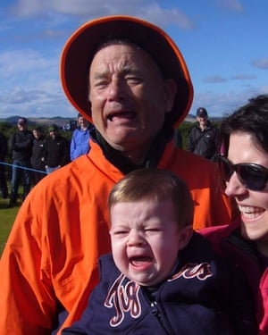 Bill Murray, probably, with Laura DiMichele-Ross and her son Alexander.