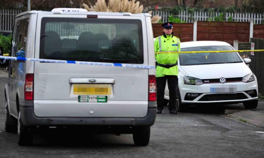 Police in Salford after drug dealer Paul Massey was shot dead in July 2015