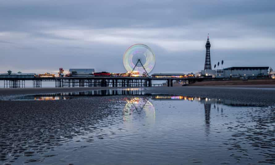 Sunset at Blackpool beach