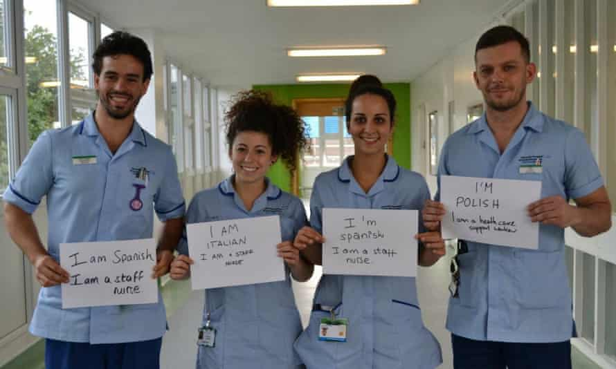 Medical staff at the University Hospital of South Manchester