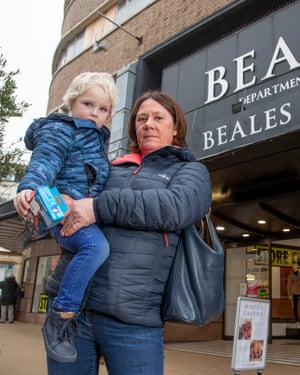 Charlotte Mason holding her grandson Huxley