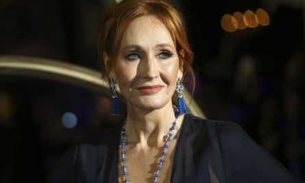 JK Rowling at the premiere of 'Fantastic Beasts' in London in 2018.