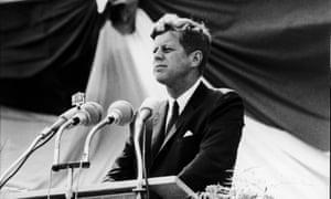 'Ich bin ein Berliner' … John F Kennedy in 1963.
