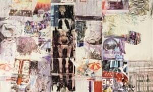 Detail from Rauschenberg's  Mirthday Man (1997).