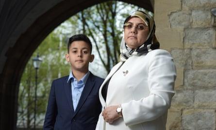 Fatima Boudchar and son