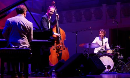 Powerful show … Phronesis, (left to right) Ivo Neame on piano, Jasper Høiby bass, Anton Eger drums.