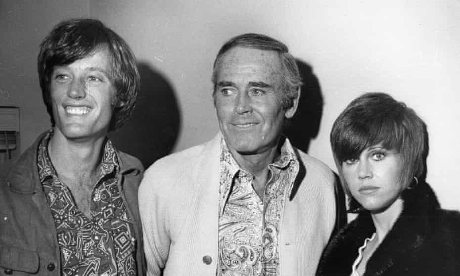 Hollywood nobility … Peter, Henry and Jane Fonda in 1969.