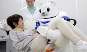 Japan's Robear, which is capable of lifting patients.