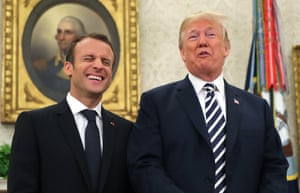 Sharing a joke ahead of their Oval Office meeting
