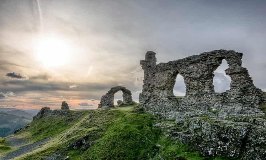 On a hill above Llangollen, Castell Dinas Brân has amazing views.