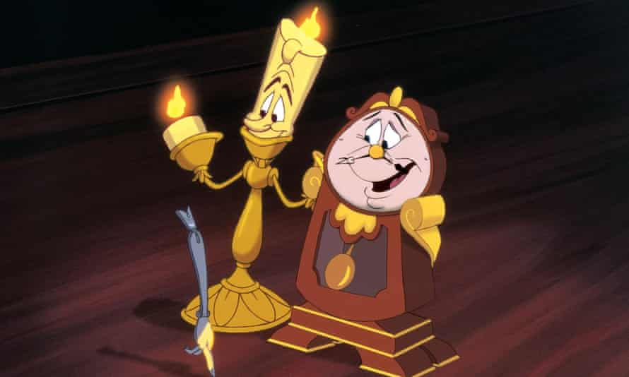 Lumière and Cogsworth from Beauty and the Beast.