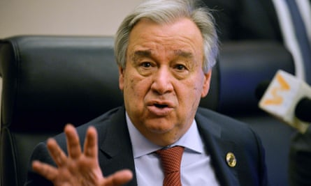 'We need urgent action now,' says UN secretary general, António Guterres.