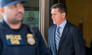 Michael Flynn leaves federal court following his plea hearing in Washington on Friday.