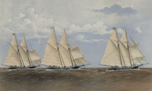 Henrietta, Fleetwing and Vesta yachts in the Great Ocean Yacht Race, 1866