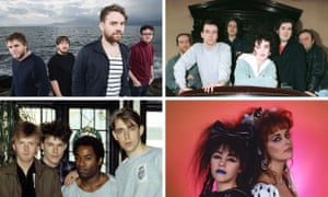 Scottish flavour … (clockwise from top right) Frightened Rabbit, Deacon Blue, Big Country and Strawberry Switchblade – all in Karine Polwart's Edinburgh festival show.