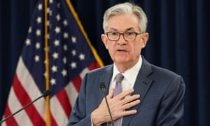 US Federal Reserve chairman Jerome Powell.