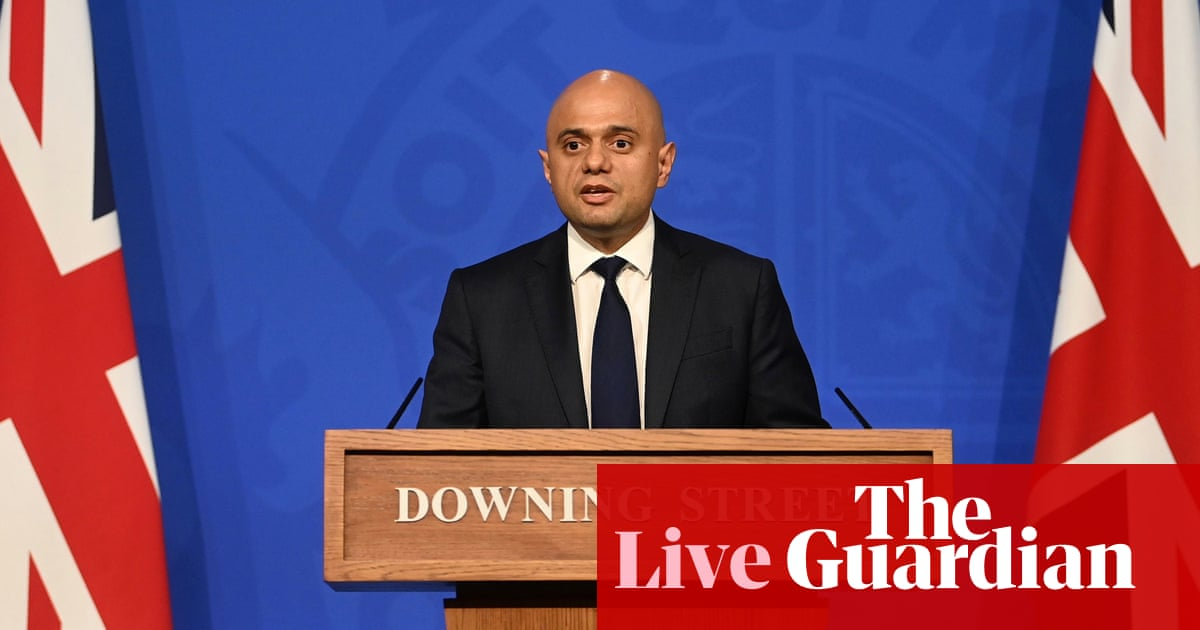 UK Covid live: Sajid Javid holds press conference as 49,139 more people test positive