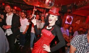 A fun night at Oliver Jones bar, Hamburg, Germany.