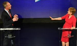 Scottish Labour leader Jim Murphy and First Minister and SNP leader Nicola Sturgeon go head to head