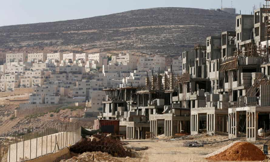 A construction site in the West Bank settlement of Givat Zeev in 2013