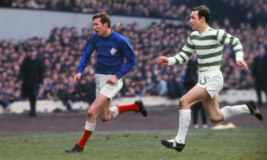 Alex Ferguson for Rangers and Jim Brogan for Celtic during the 1969 Scottish FA Cup Final at Hampden Park. Ferguson was made a scapegoat after a 4-0 defeat.