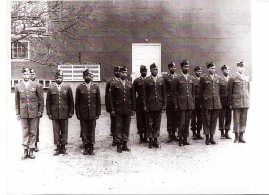 Graduation of the US army's first black paratroopers in 1944.