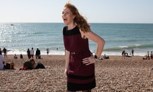 Labour MP and shadow education minister Angela Rayner, photographed on Brighton beach.