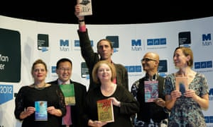 Jeet Thayil with other shortlisted authors for the Man Booker Prize 2012