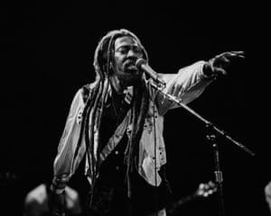 Bunny Wailer performing at the Henry J. Kaiser Auditorium in Oakland on November 1986