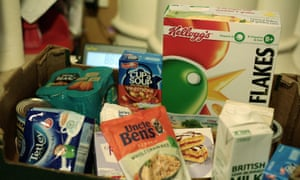 A food bank box in Fulham and Hammersmith
