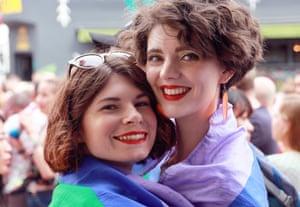 Bee Stothert, left, and her partner Jess McClellan.